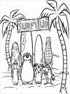 Surf's Up team coloring page