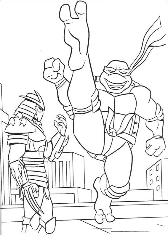 Ninja Turtles 1 coloring page