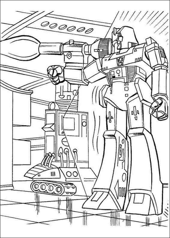 Transformers 001 Coloring Page Transformers Animated Coloring Pages