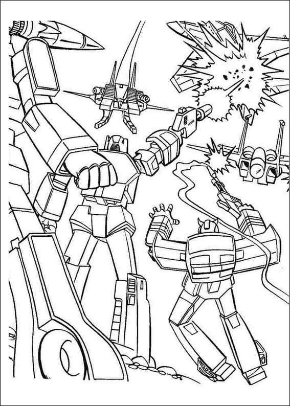 Transformers 003 coloring page for Transformers animated coloring pages