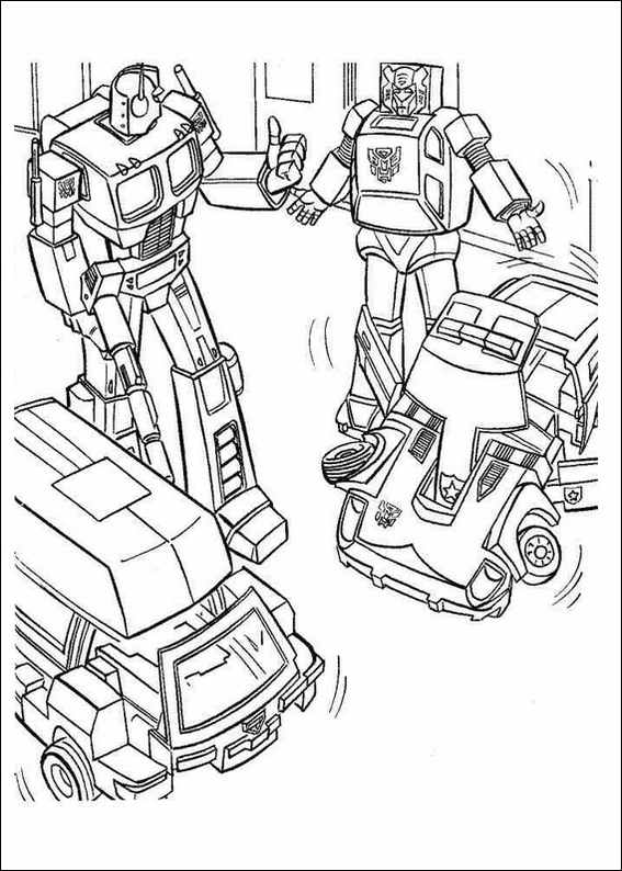 Free Coloring Pages Of Red Transformer