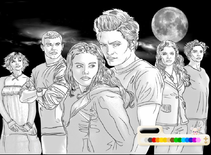 twilight team coloring page - Twilight Coloring Pages