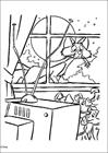 101 Dalmatians watching tv coloring page