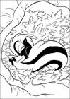Bambi badger coloring page