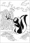 Bambi badgers coloring page