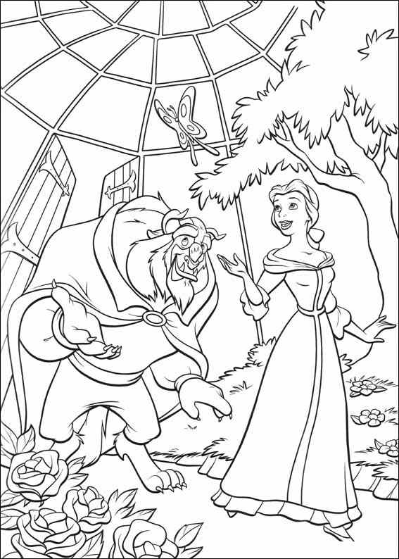 Beauty and the Beast 3 coloring page