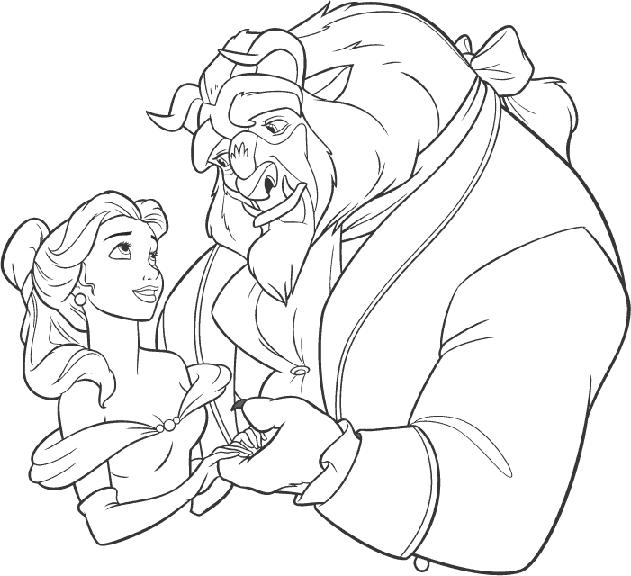 beast disney coloring pages - photo#8