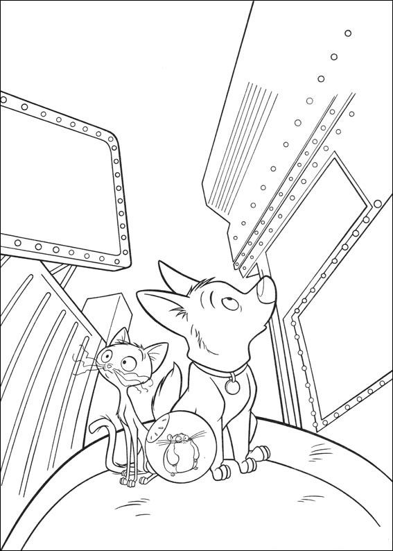Bolt And Friends 2 Coloring Page