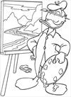 Donald duck painting coloring page