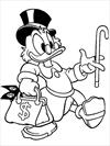 Uncle Scrooge Mc Duck coloring page