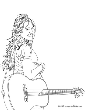 Cartoon Design: Hannah Montana Coloring Pages : Miley Cyrus Happy | 470x364