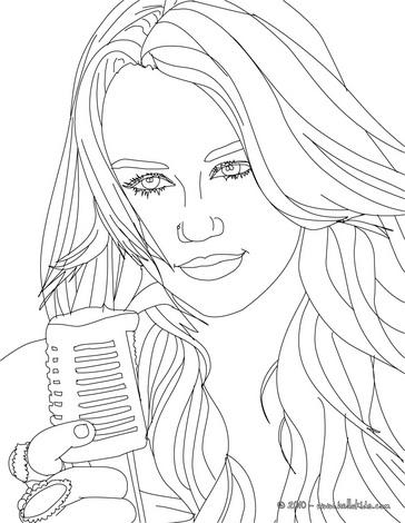Hannah Montana Miley Cyrus 07 Coloring Page