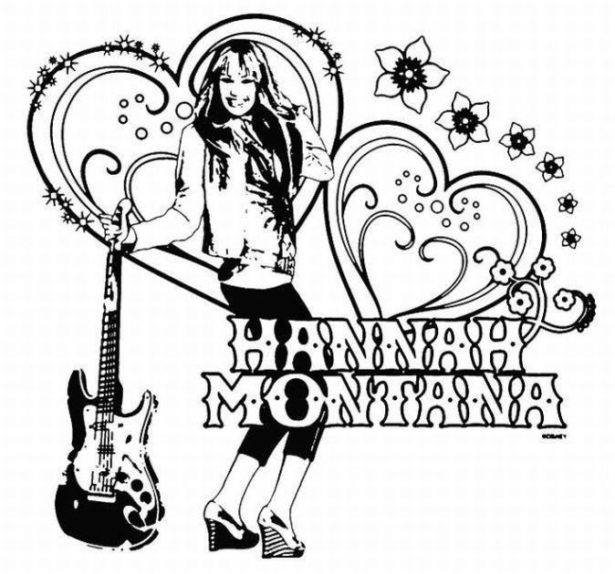 Hannah Montana Miley Cyrus 12 Coloring Page