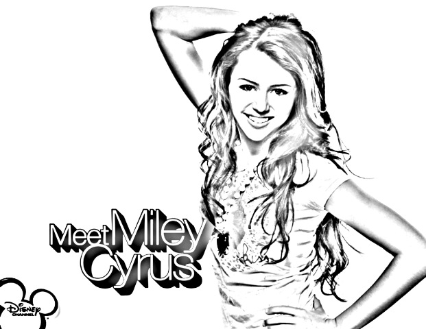 miley cyrus coloring pages printable - photo#31