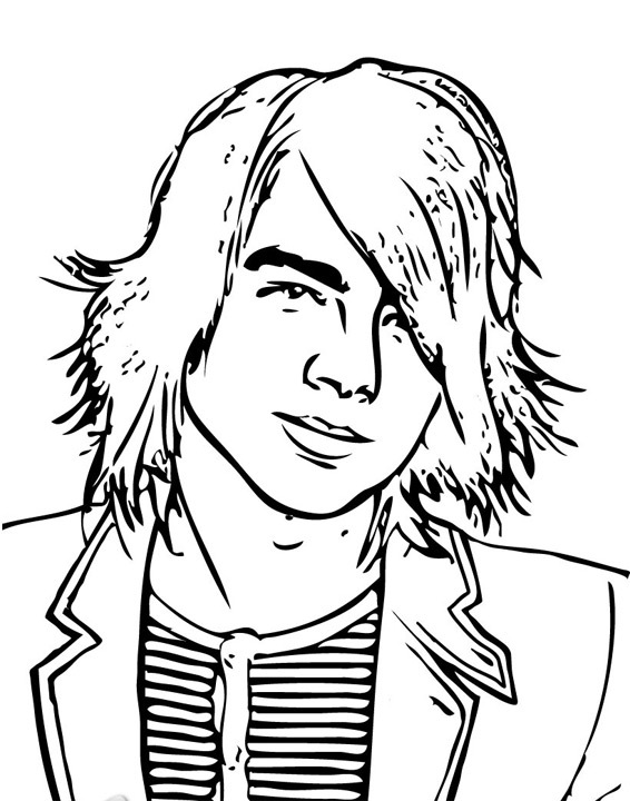 Jonas Brothers 1 coloring page
