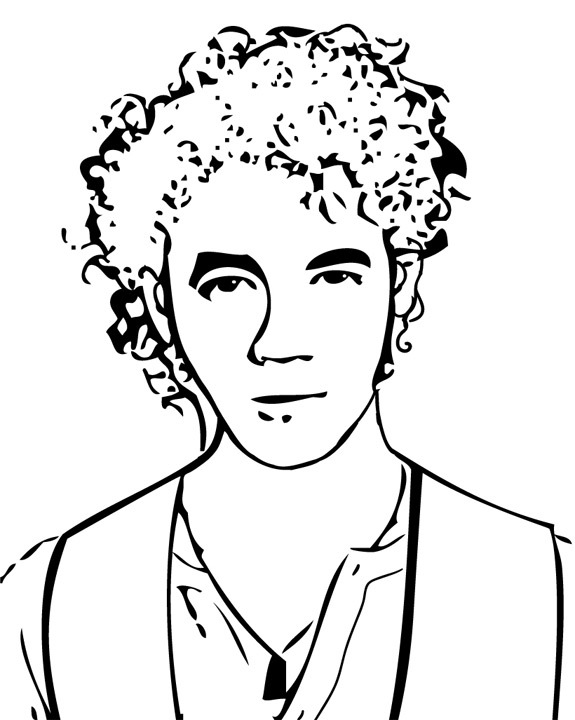 Jonas Brothers 2 coloring page