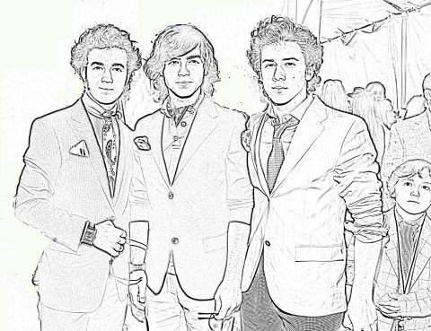 Jonas Brothers coloring page