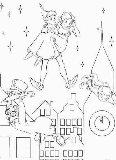 peter pan and city coloring this kind of design is available in wide and high resolutions file format very similar pics can become found on our photoset - Peter Pan Mermaids Coloring Pages