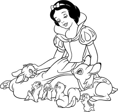 Disney Snow White 2 coloring page