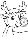 Christmas Rudolf the reindeer coloring page