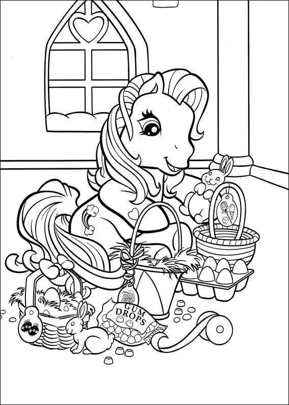 Easter My Little Pony Coloring Page