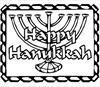Happy hanukkah coloring page