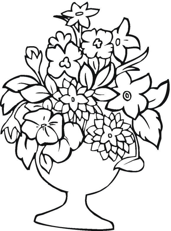 Flower Coloring Sheets : Flower 14 coloring page