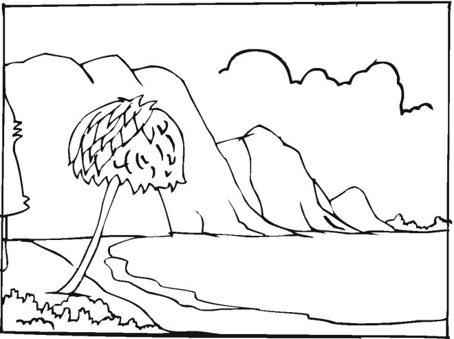Sea Coloring Page The Sea Coloring Pages