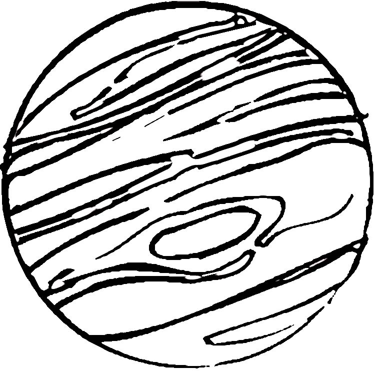 jupiter planet line drawings - photo #6