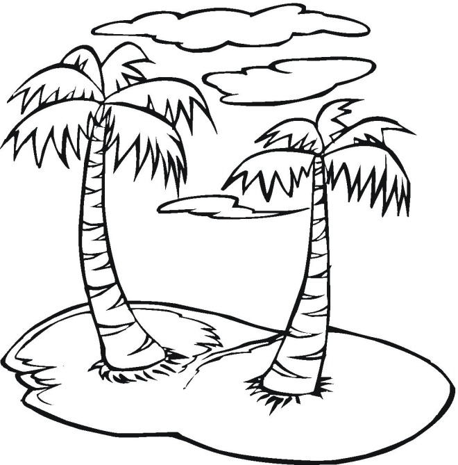 palm tree pictures coloring pages - photo#36