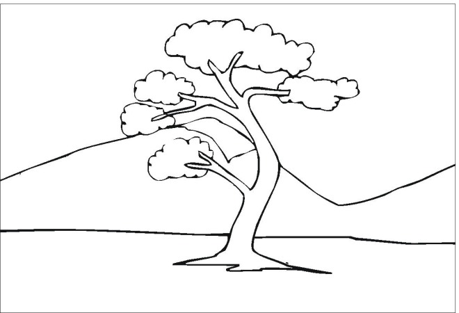 Tree 7 coloring page