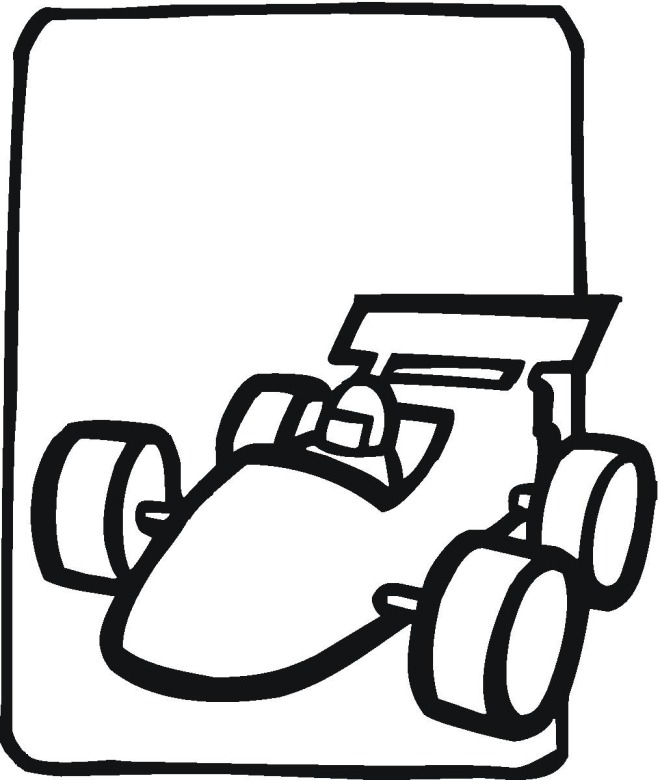 race car coloring page - Simple Car Coloring Pages