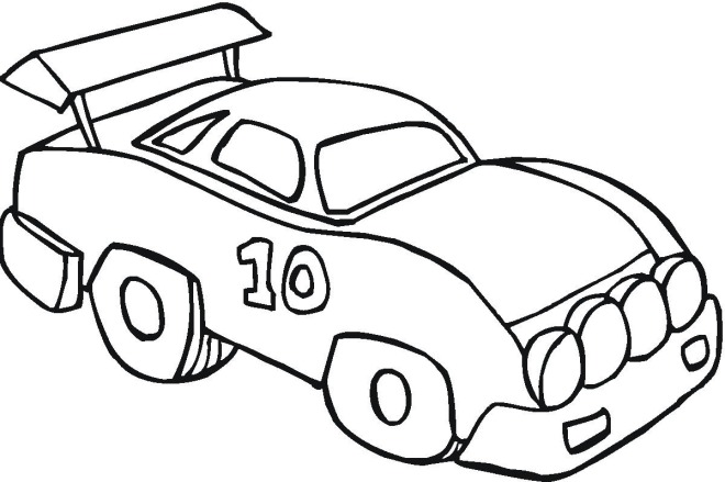 Sport Car Coloring Page - Coloring-pages-vehicles