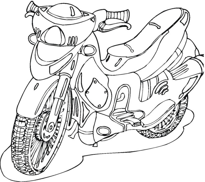 motorcycle 2 coloring page
