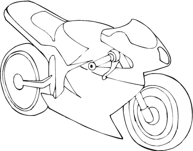 Motorcycle 3 coloring page