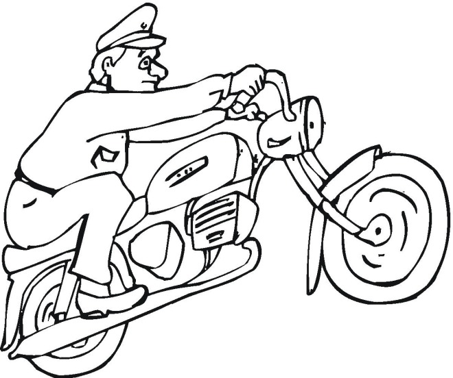 Motorcycle 4 Coloring Page