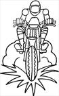 Motorcycle 5 coloring page