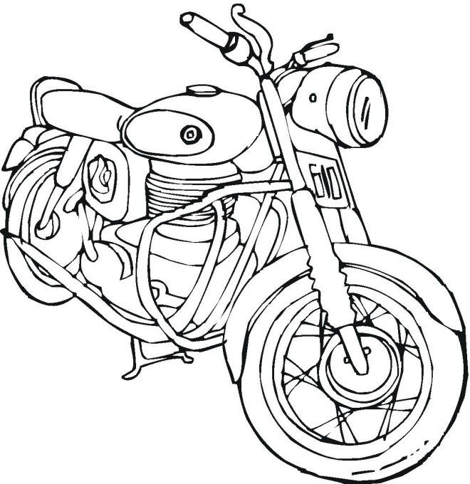 Motorcycles coloring pages » Free & Printable » Motorcycle ... | 680x660
