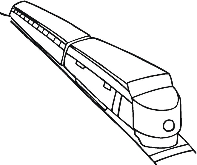 train 2 coloring page - Train Coloring Page 2
