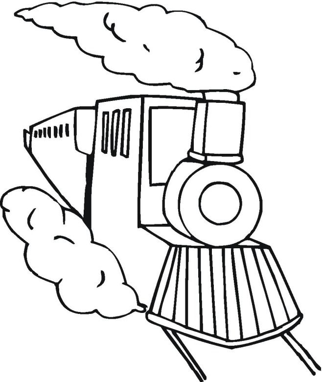 Train 3 Coloring Page