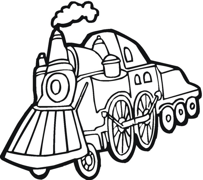 Train 4 coloring page
