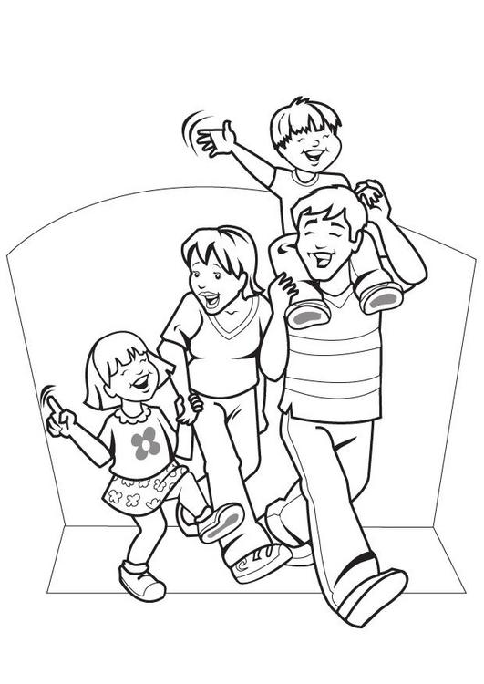 family coloring pages children - photo#32