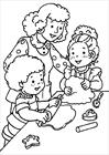 Mom with children coloring page