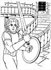 Knight with sword 2 coloring page