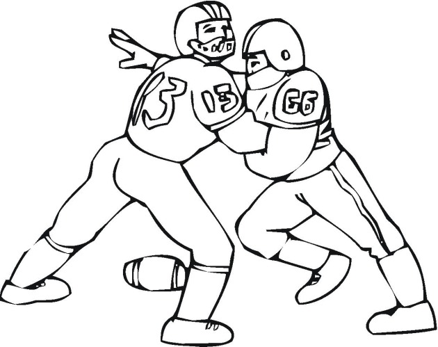american football player coloring pages - photo#36