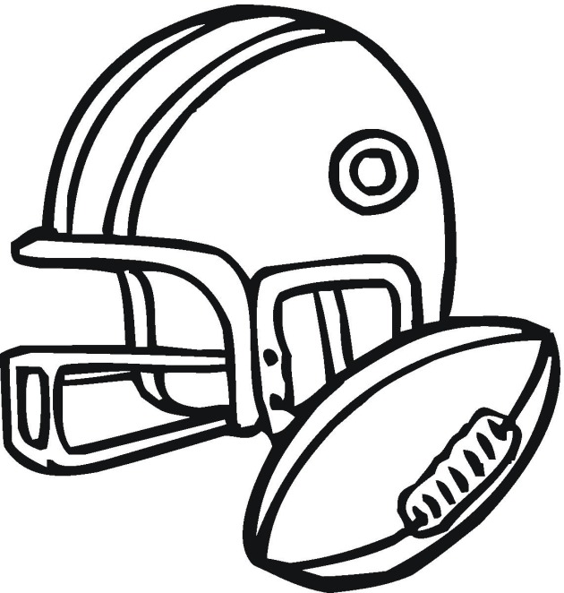 American football 3 coloring page for Football color page