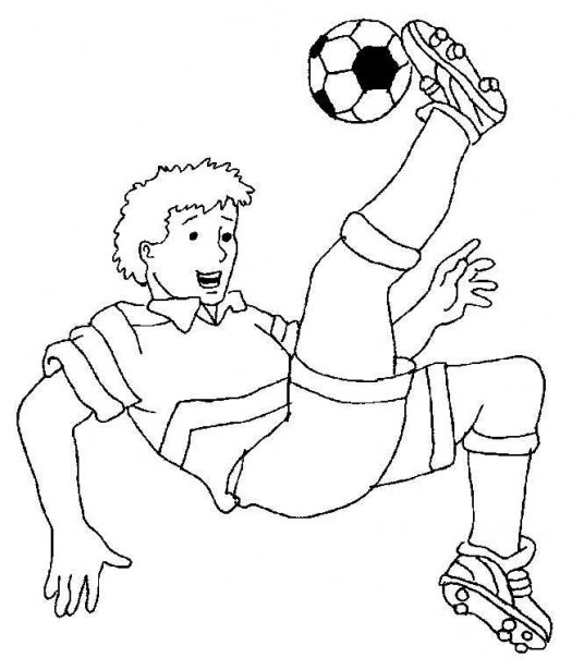 Football boy coloring page