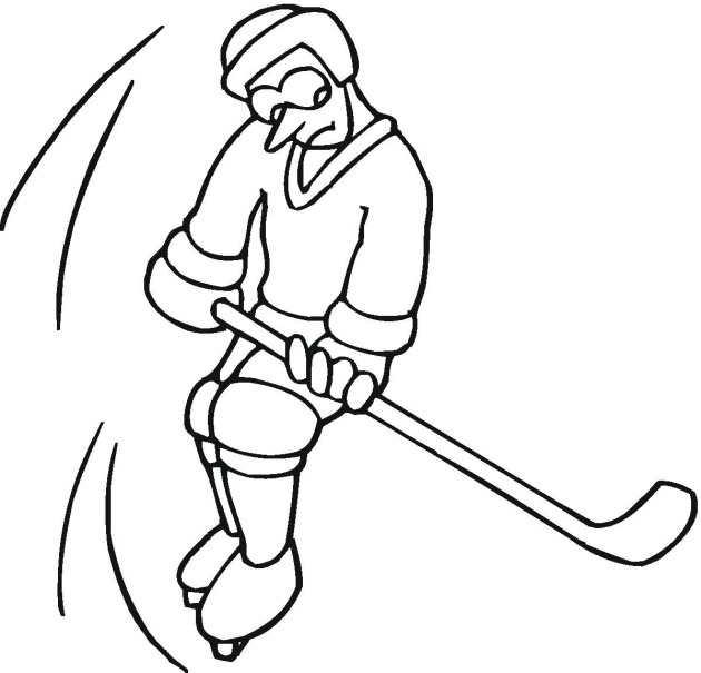 Hockey 3 coloring page