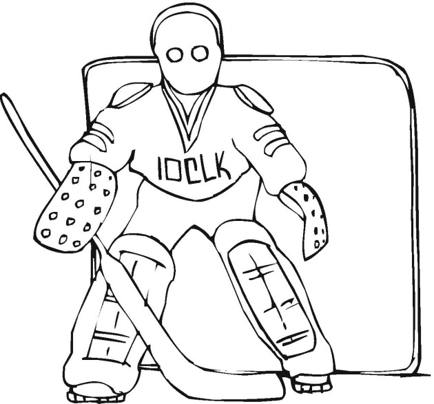 Hockey 4 coloring page for Ice hockey coloring pages