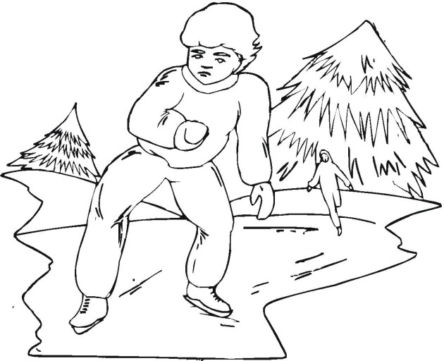 Ice Skating 2 coloring page